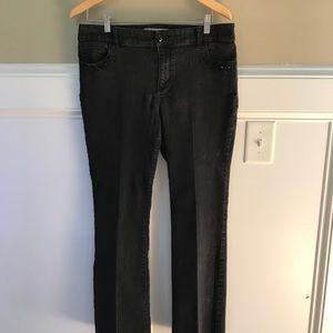 Chico's Platinum Black Embellished Jeans 1